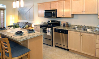 Kitchen interior of our Provo apartments