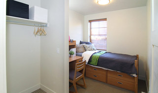A view inside Provo student apartments bedroom