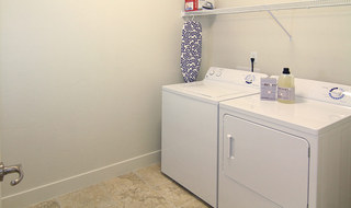 Laundry room at Provo student housing