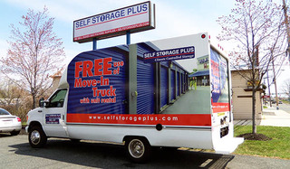 Moving truck for self storage in bel air