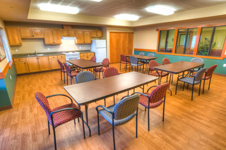 Lodge activity room at vancouver senior living