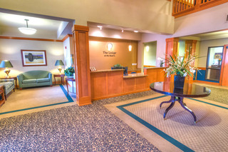 Lodge lobby at vancouver senior living