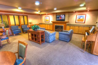Lodge tv room at vancouver senior living