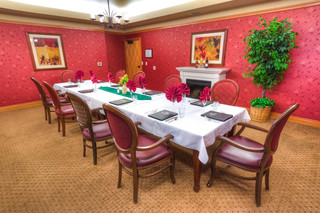 Private dining room at vancouver senior living