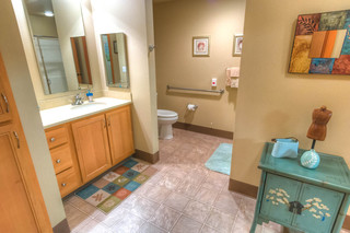 Terrace model bathroom at vancouver senior living