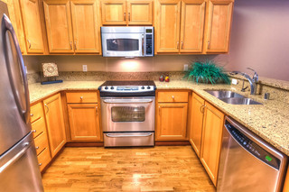 Terrace model kitchen at vancouver senior living