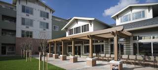 New huge landscaped are at vancouver senior living