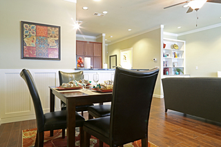 Large irving tx senior living villa dining