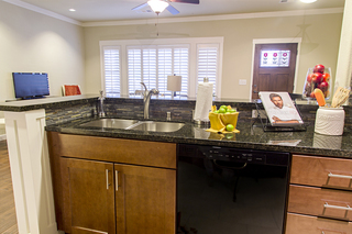 Large irving tx senior living villa kitchen tile