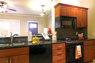 Large irving tx senior living villa kitchen counter