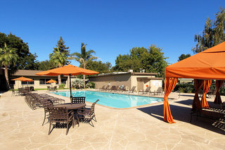 Outdoor pool student living in chico