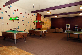 Recreation room with billiards at student living in chico