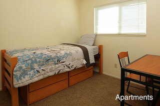 Student living in chico apartment room