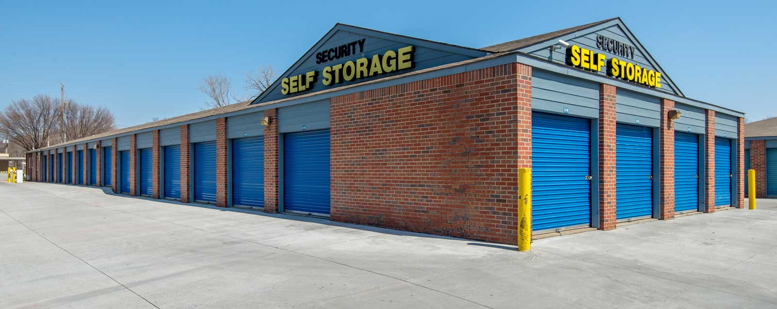 Drive up units at shawnee self storage