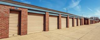 Exterior of units at wichita self storage