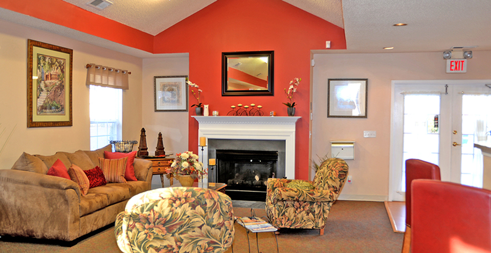 Community clubhouse at the glenns millers lane offers a great apartment lounge for residents
