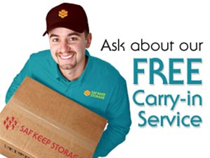 Free carrying service from Saf Keep Storage