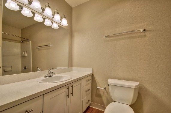 Bathroom white cabinets th