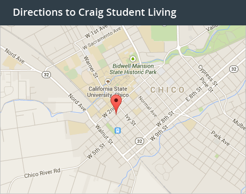 Get Directions to our student living in Davis