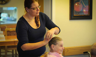 Hair styling at yakima senior living