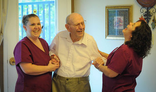 Laughter at yakima senior living