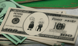 Funny money at Redmond WA senior living