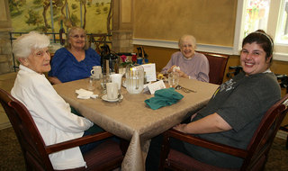 Residents at Redmond WA senior living