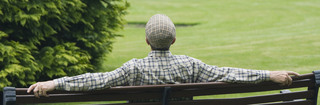 Man on bench no sidefade