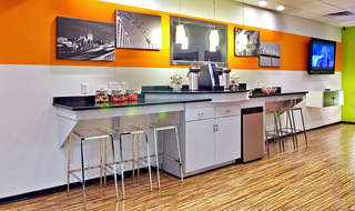 Blacksburg VA student apartments coffee bar