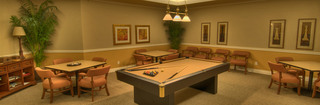 Game room at senior living in edmonton alberta
