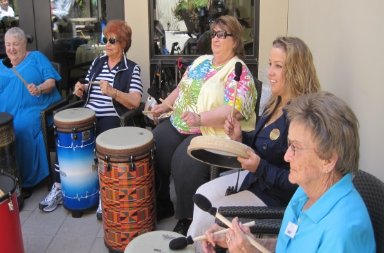 Drum Circles Grow in Popularity Among Seniors