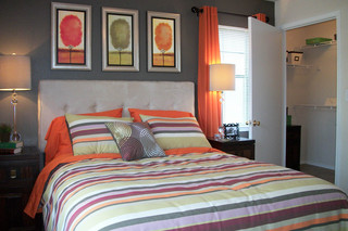 Apartments in north richland hills model bedroom