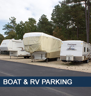 Fayetteville self storage offers Boat and RV parking