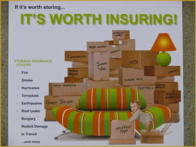 Customer goods insurance at pouch self storage