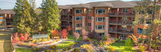Senior living in bend oregon balconies overlooking gardens