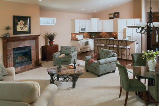 Nice living room at Appleton Senior Living