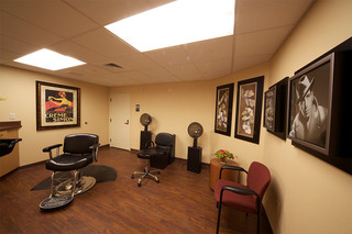A classic barber shop and beauty salon at edmond senior living