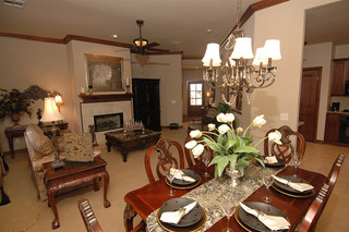 Elegant dining area at edmond senior living