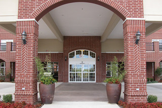 Formal entrance to our edmond senior living