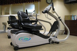 Modern exercise equipment at edmond senior living