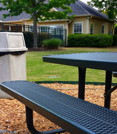 Camellia Trace Apartments picnic area for residents