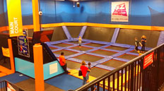 Sky zone is near Camellia Trace Apartments