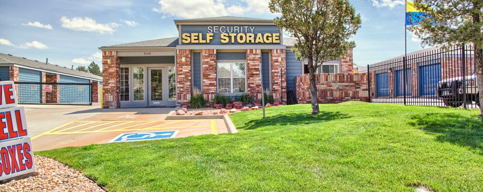 Exterior office of Westminster self storage