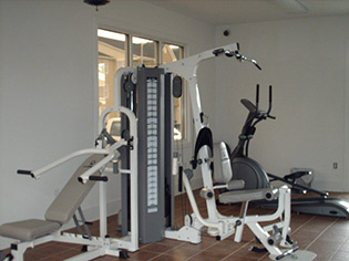 A look at the fitness center at our apartments in Fayetteville