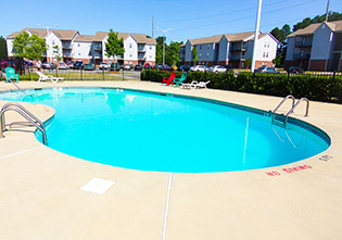 A look at the swimming pool at our Fayetteville apartments