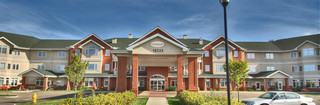 Senior living community in edmonton front entrance alberta