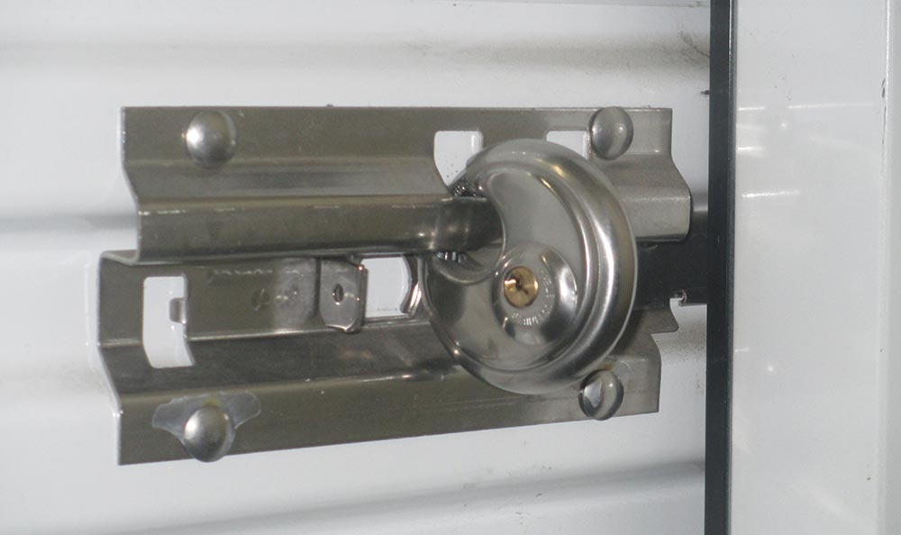 Lock on storage unit at self storage in Ventura