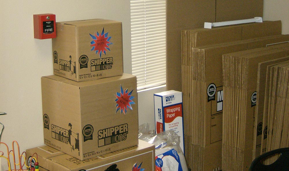 Boxes for sale at Modesto storage