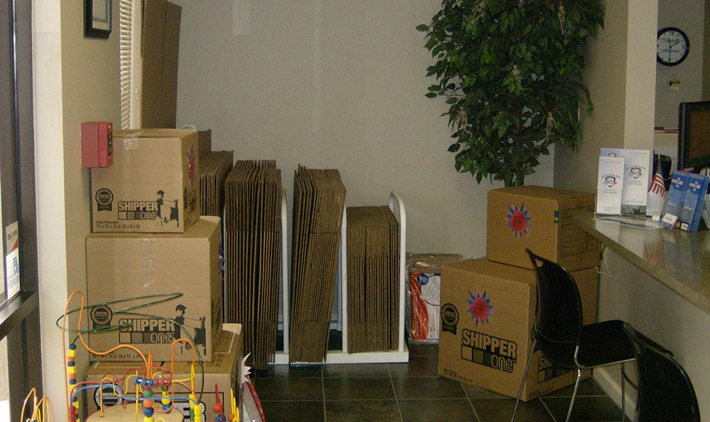 Moving supplies for sale at Modesto storage