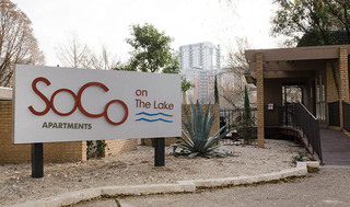 Apartment sign at soco